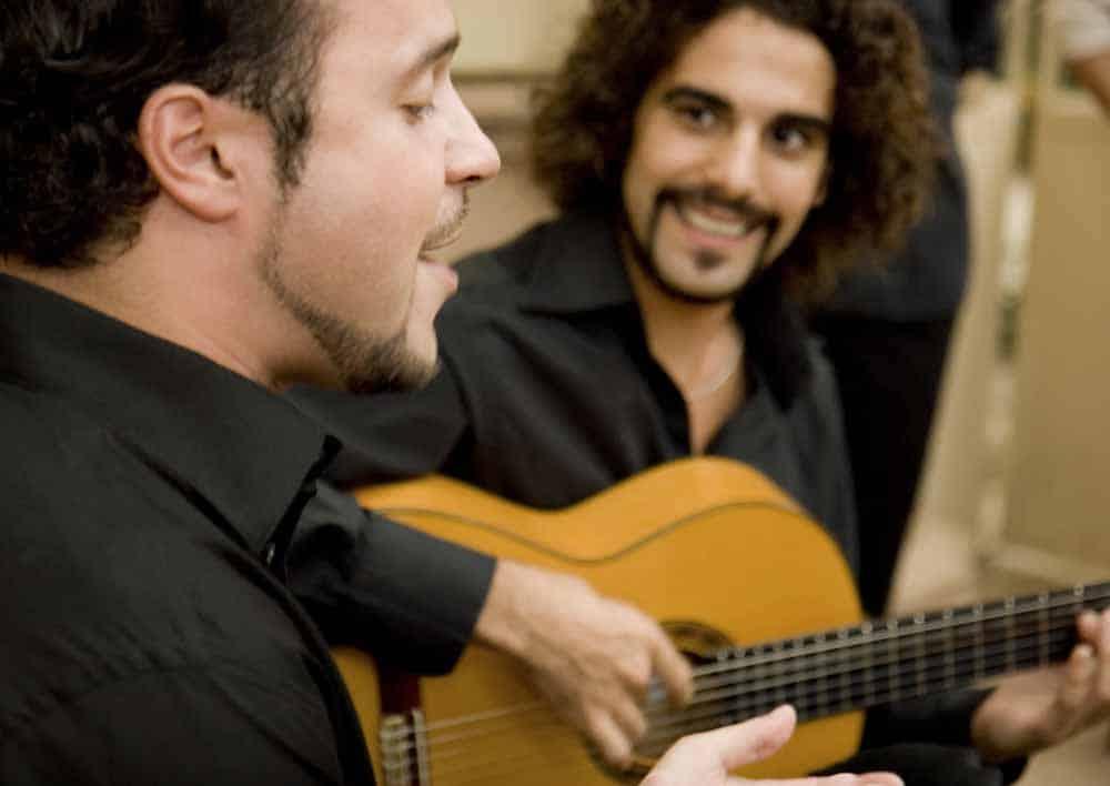 Chanteur de flamenco